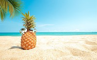 Sunglasses and pineapple