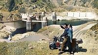Hoover Dam impresses a young Swiss couple making t