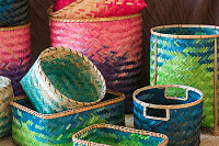 mexican color baskets
