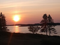 Sunset over Cobscook Bay
