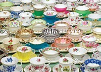 old teacups and saucers