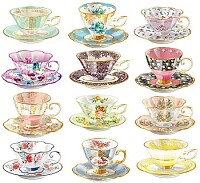 more old teacups and saucers
