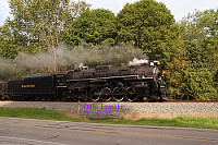 Nickle Plate #765 steam pulling scenic train Cuyahoga Valley National