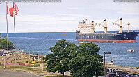 m/v Isadora   Flags southbound off of Lake Huron