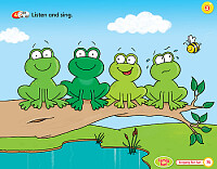 Four frogs on a tree