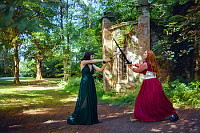 Cosplay maidens defend the castle