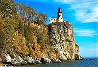 lighthouse up the cliff