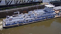 towboat Cooperative Venture at Mississippi River Lock-19
